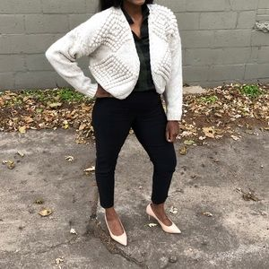 Vintage poof textured Cropped Sweater!